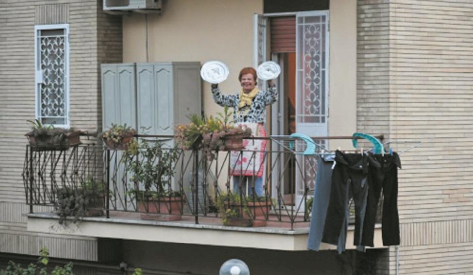Quand les Italiens s'essaient à rire de leur confinement