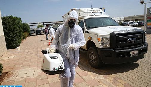 Le conseil de la région Dakhla-Oued Eddahab poursuit l'opération de désinfection