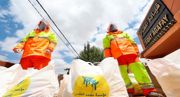 Mobilisation pour la remise de 7.918 paniers d'aide alimentaire aux nécessiteux de Marrakech
