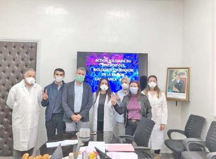 Mobilisation honorable et saluée des biologistes médicaux du Grand Casablanca