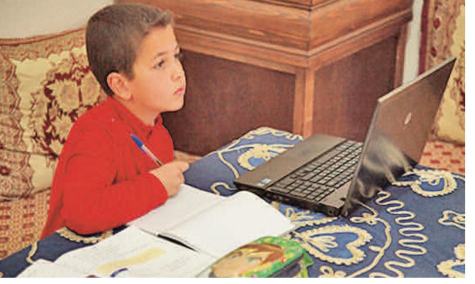 Rediffusion des cours à distance  pendant les vacances de l'Aïd
