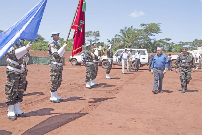 Un Casque bleu marocain honoré par les Nations unies