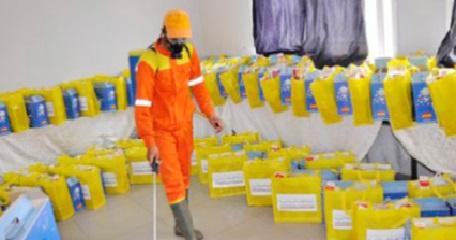 Distribution de kits alimentaires et d'hygiène à Khénifra