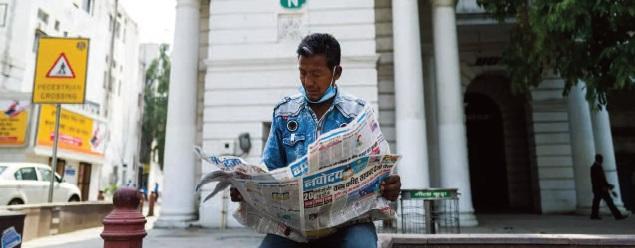 Le coronavirus, coup fatal pour les journaux indiens ?
