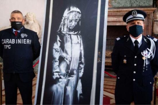 Du Bataclan  à l'Italie,  l'enquête  qui a mené  les policiers  au Banksy volé