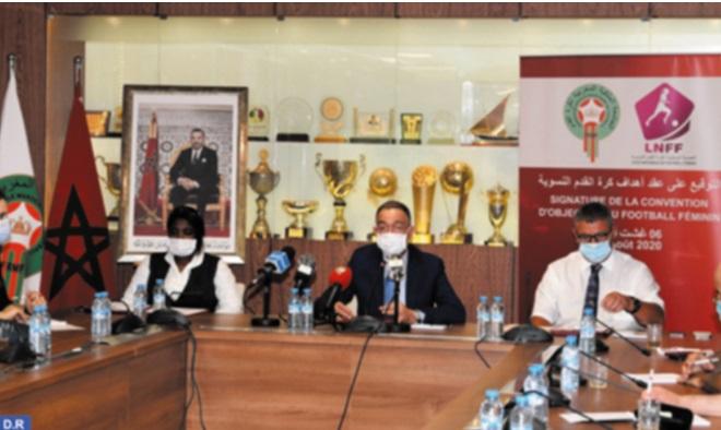 Signature  d'une convention d'objectifs pour  le développement du football féminin