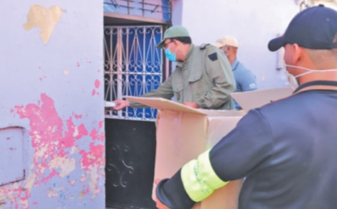 Campagnes de distribution des masques de protection à Benguérir et Sidi Allal Tazi