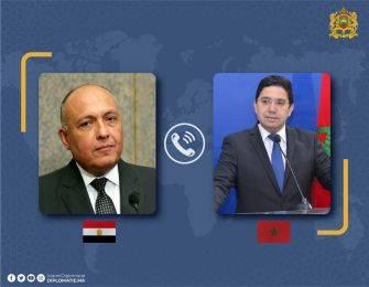 Nasser Bourita examine avec son homologue égyptien les efforts communs pour l'aboutissement d' un règlement politique en Libye