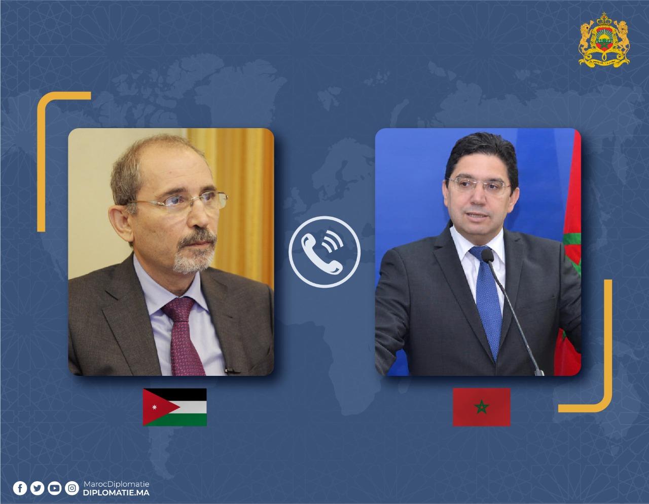 Soutien jordanien aux efforts du Maroc
