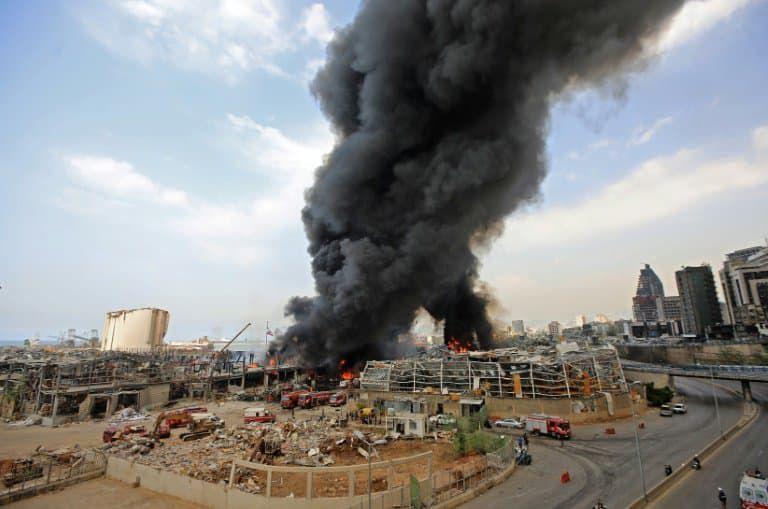 L'incendie du port de Beyrouth éteint, l'aide humanitaire impactée