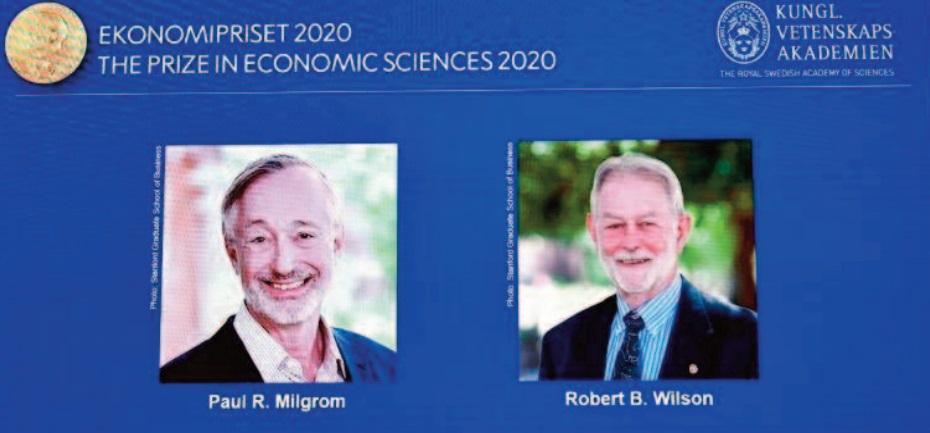 Le Nobel d'économie aux Américains Paul Milgrom et RobertWilson, experts des enchères