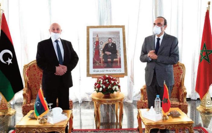 Habib El Malki reçoit son homologue libyen