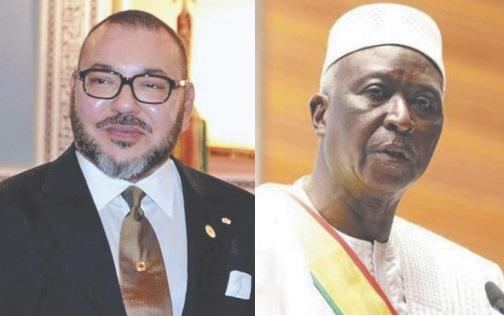 Le président Bah N'Daw remercie S.M le Roi pour son accompagnement constant du Mali