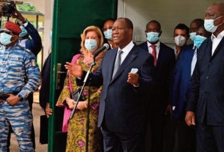 Le président Ouattara réélu pour un 3ème mandat