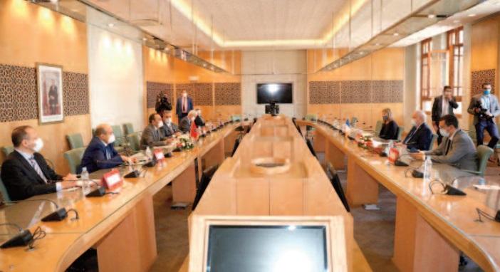 Habib El Malki reçoit le président du groupe d'amitié France-Maroc au Sénat
