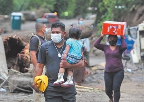Don humanitaire du Maroc au Panama après le passage de l' ouragan Eta