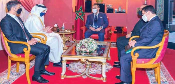 Message du Prince héritier d'Abou Dhabi à S.M le Roi
