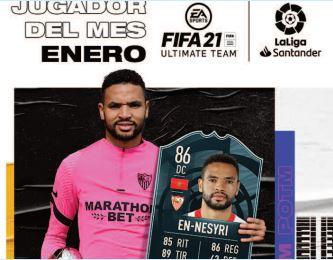 En-Nesyri, meilleur joueur du mois de janvier de la Liga