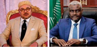 SM le Roi félicite Moussa Faki Mahamat à l'occasion de sa réélection à la tête de la Commission de l'UA
