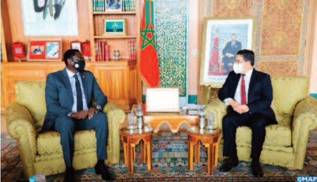 Le président gambien adresse un message à S.M le Roi