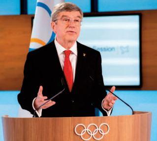 Réélu à la tête du CIO,Thomas Bach promet des JO sûrs à Tokyo