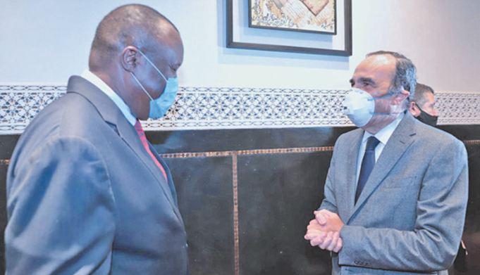 Habib El Malki s ' entretient avec le président par intérim du Parlement panafricain