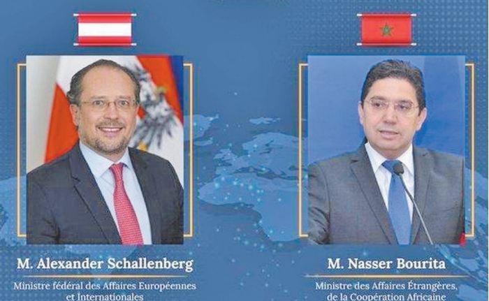 Nasser Bourita s'entretient avec son homologue autrichien