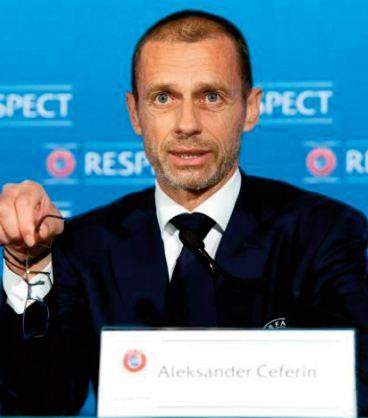 Super Ligue. Pour le patron de l'UEFA, les demies de C1 ne sont pas menacées