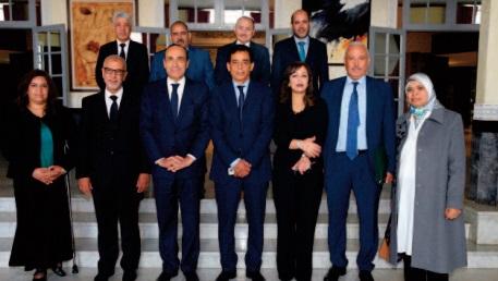 Réunion hebdomadaire du bureau de la Chambre des représentants sous la présidence de Habib El Malki