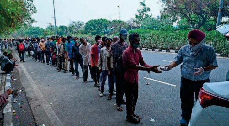 La pandémie a provoqué une crise alimentaire pour des millions de personnes en Inde