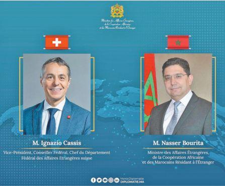 Entretien téléphonique entre les chefs des diplomaties du Maroc et de la Suisse