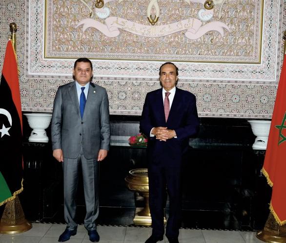 Le chef du gouvernement libyen de transition reçu sous la Coupole