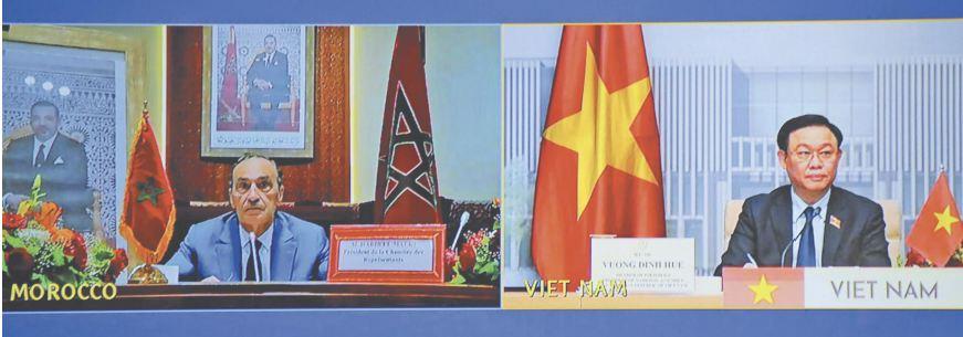 Habib El Malki et le président de l'Assemblée nationale du Vietnam saluent la coopération entre les deux pays