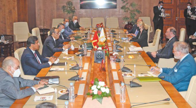 Habib El Malki s ' entretient avec le président de l'Assemblée Parlementaire du Conseil de l'Europe
