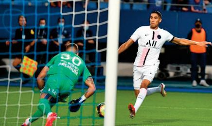 Hakimi ouvre le compteur des buts du PSG en Ligue 1