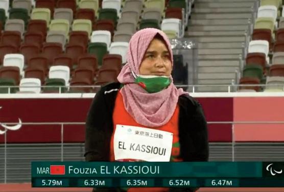 Jeux paralympiques: Fouzia El Kassioui s'adjuge l'argent au lancer du poids
