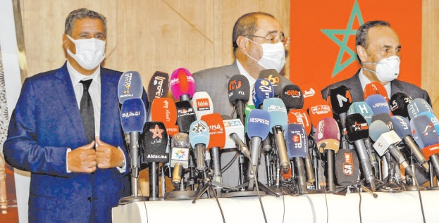 Notre rencontre a été l'occasion d'engager des consultations préliminaires sur ce qui préoccupe le peuple marocain et notre pays en cette conjoncture délicate