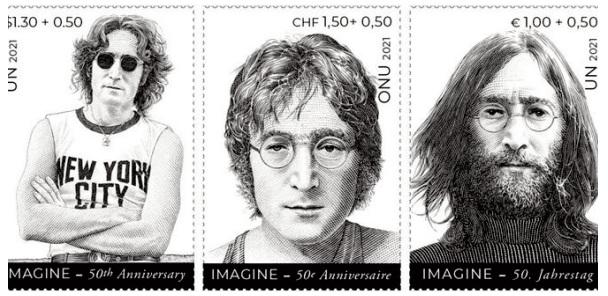 Des timbres à l' effigie de John Lennon