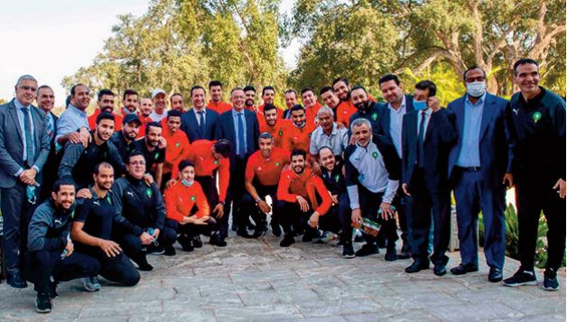 Réception en l'honneur de la sélection nationale de futsal