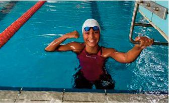 Participation de Ghita El Mouatarif à la Coupe Comen de natation