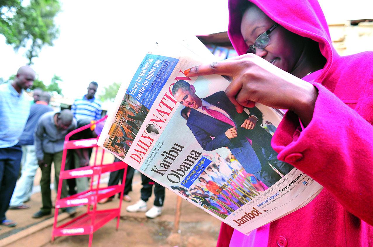 Visite sous haute sécurité du président américain au Kenya