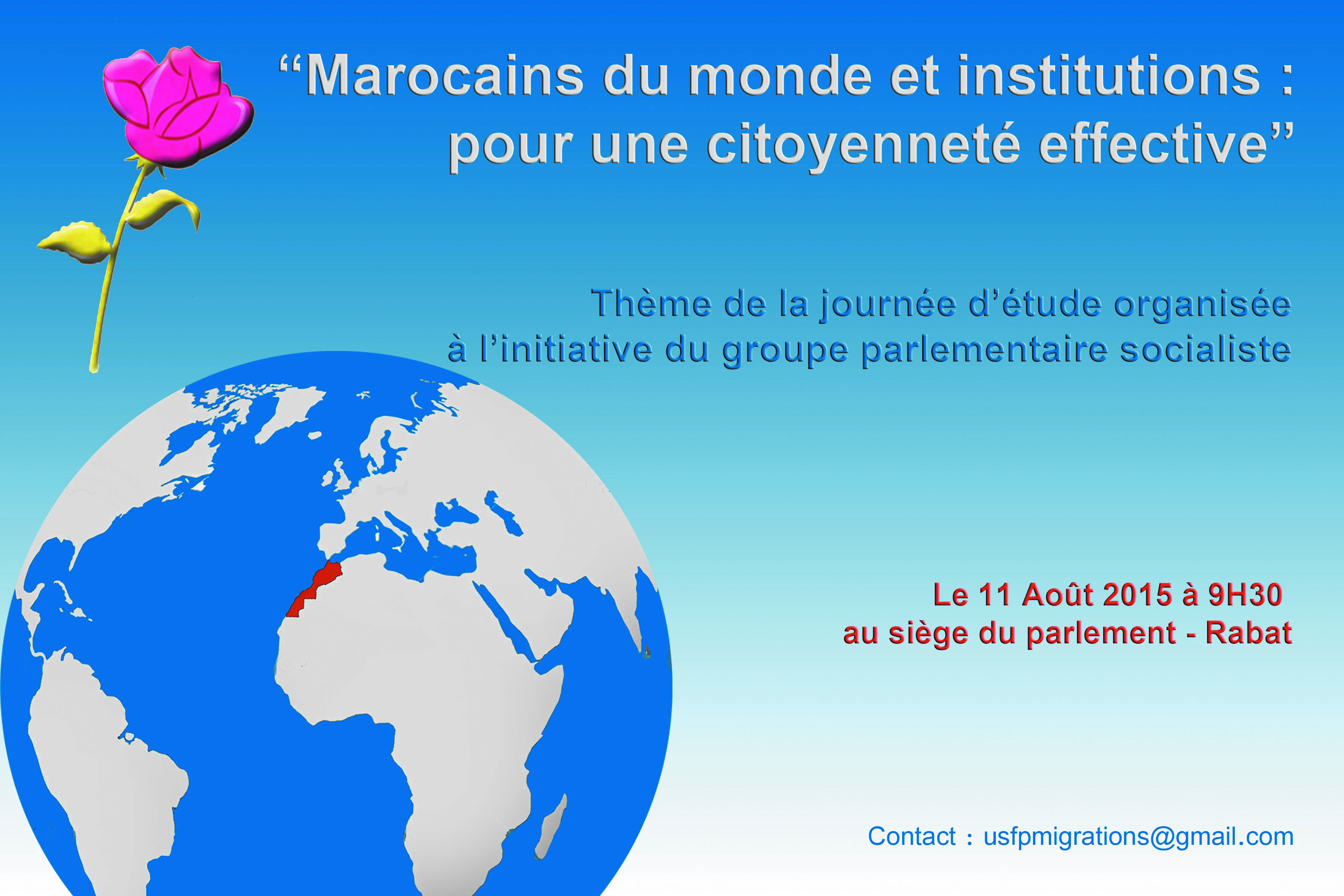 """""""Marocains du monde et institutions pour une citoyenneté effective"""""""