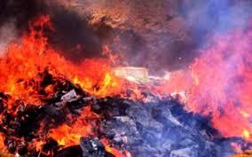 Destruction d'une importante quantité de produits  saisis dans la région de Oued Eddahab-Lagouira