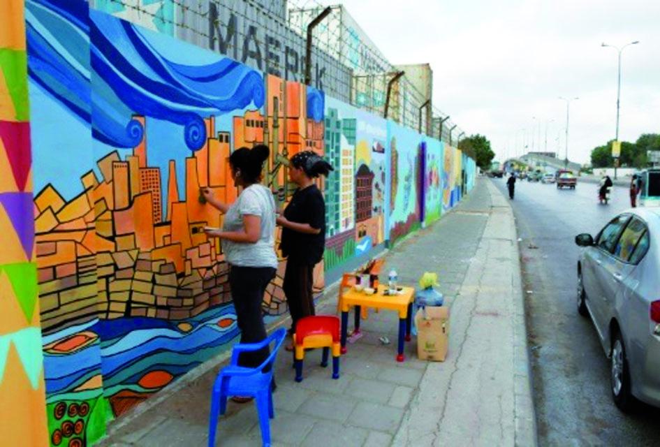 """A Karachi, des tagueurs couvrent d'art les """"murs de la haine"""""""