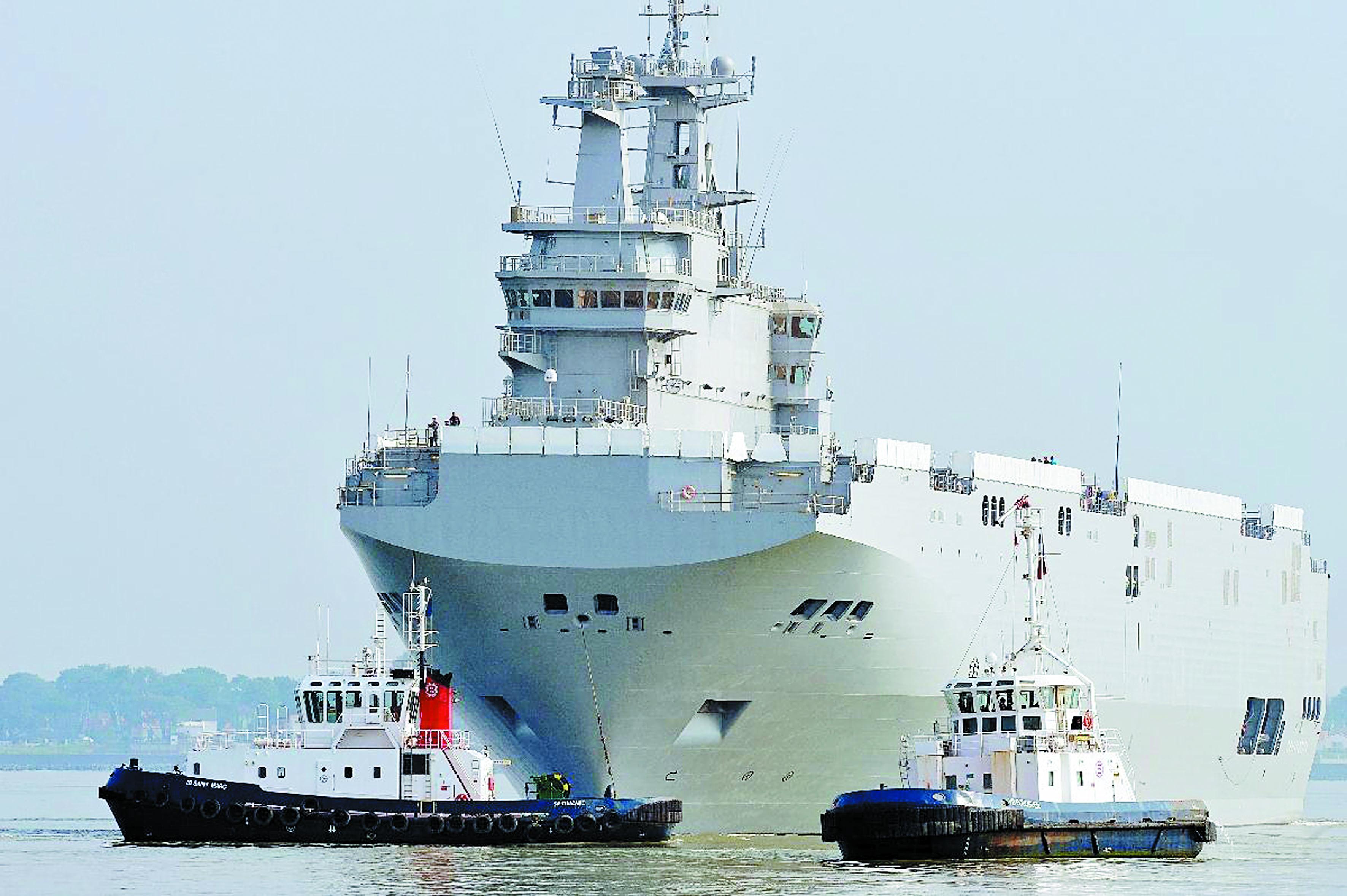 """Sacrifiés: """"A vendre, deux navires BPC Mistral en état neuf"""""""