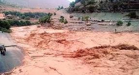 Inondations de l'Oued Alfet dans la province d'Azilal