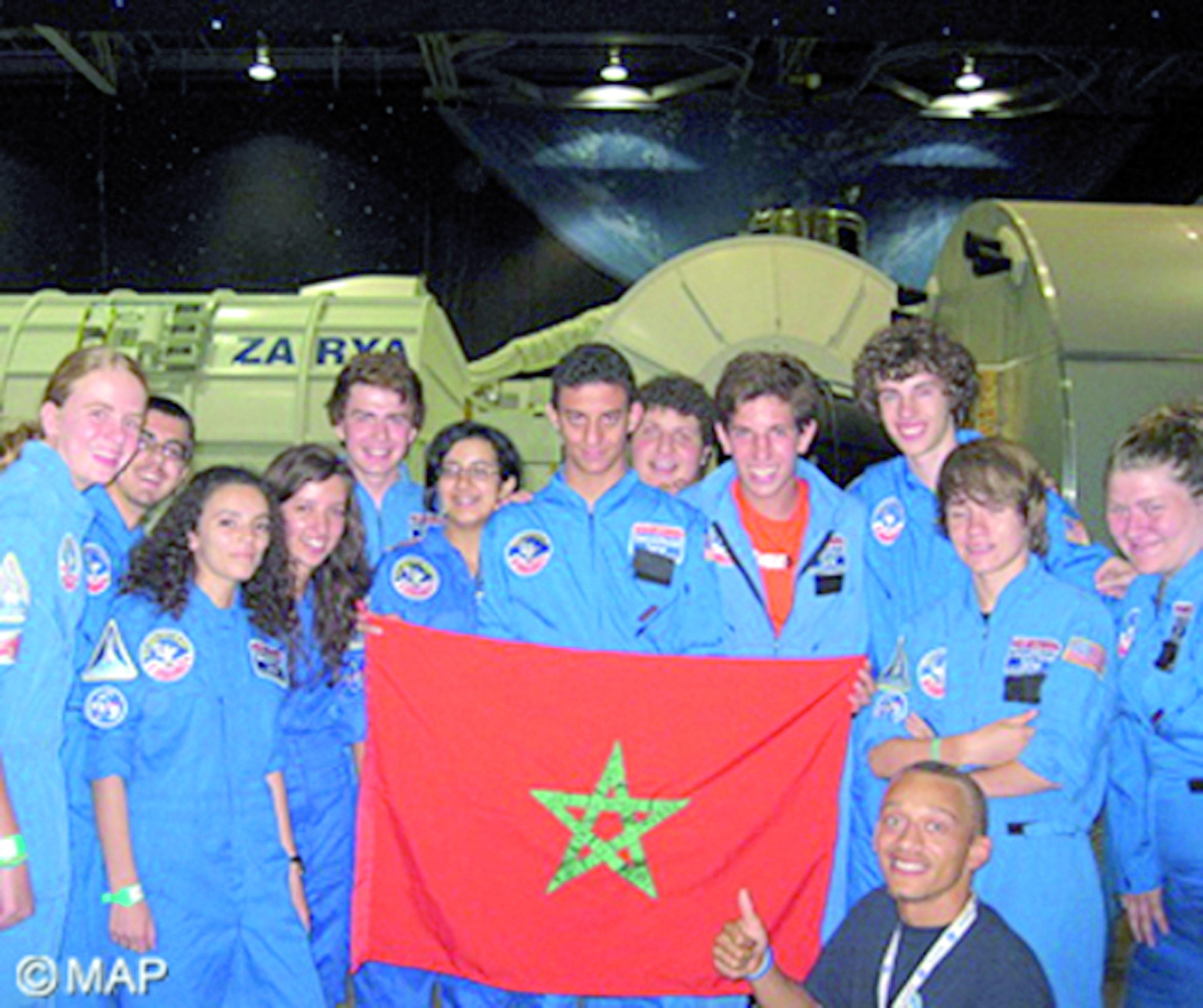 Participation de cinq lycéens marocains  à l'édition 2015 du Space Camp