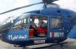 Evacuation par hélicoptère médicalisé d'un prématuré de Guelmim vers le CHU de Marrakech