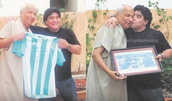 """Maradona a rencontré l'arbitre tunisien de """"la main de Dieu"""""""