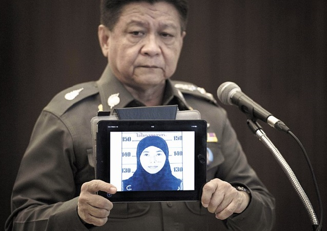 Une Thaïlandaise portant un hidjab et un homme recherchés dans l'enquête de l'attentat de Bangkok